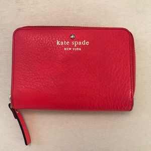 Kate Spade small wallet with full zip compartment